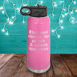 Thou Shalt Shutteth Thy Pie Hole Water Bottle