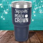 Sippin' Peach Crown Laser Etched Tumbler