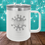 I Survived COVID19 15oz Coffee Mug Tumbler