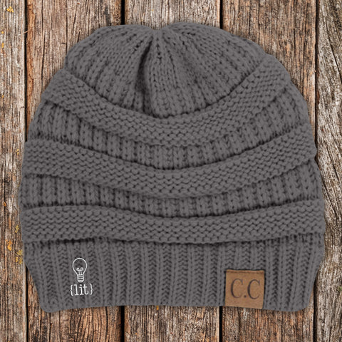 Lit C.C Thick Knit Soft Beanie