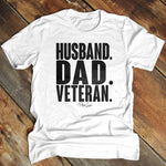 Husband Dad Veteran Men's Apparel