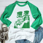 $17.99 SPECIAL -  Women Yelling At Cat St. Patrick's Raglan (Unisex)
