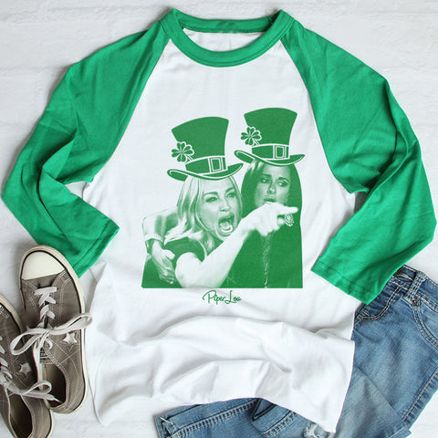 Women Yelling At Cat St. Patrick's Raglan (Unisex)