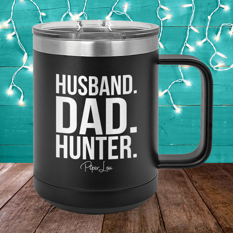 Husband Dad Hunter 15oz Coffee Mug Tumbler