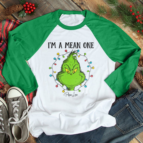 I'm A Mean One Christmas Raglan (Unisex)