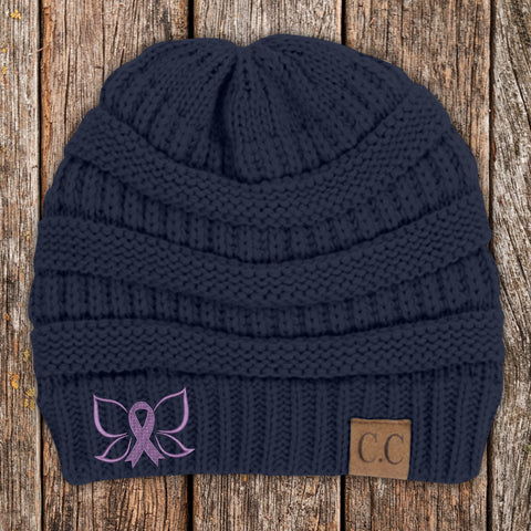 100% Donation - Butterfly Ribbon Beanie