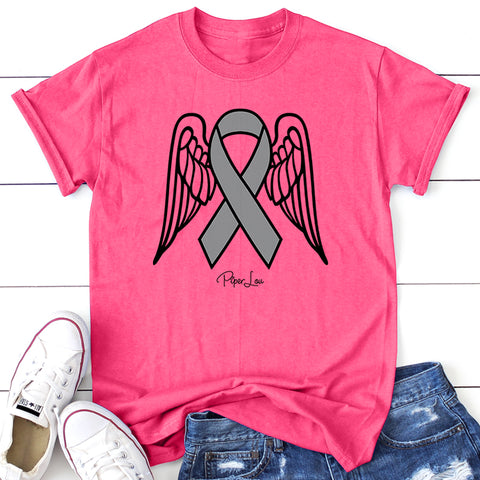 Brain Cancer Angel Wings Ribbon