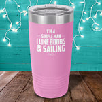 I Like Boobs And Sailing Laser Etched Tumbler