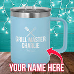Grill Master (CUSTOM) 15oz Coffee Mug Tumbler