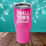 Small Town Proud Laser Etched Tumbler
