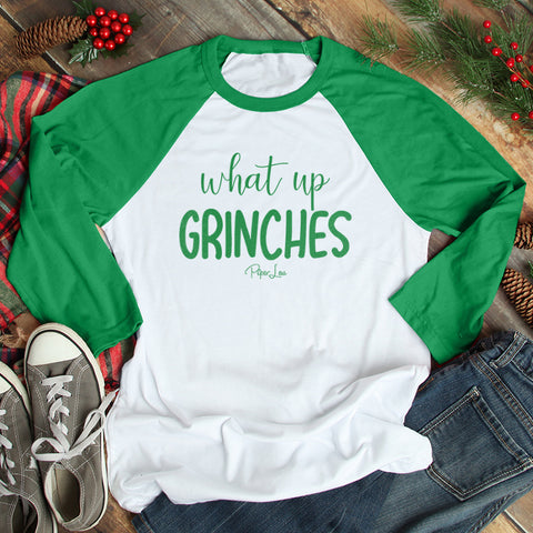 What Up Grinches Christmas Raglan