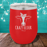 Crazy Heifer 12oz Stemless Wine Cup