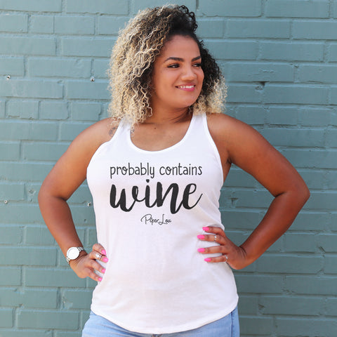 Probably Contains Wine Curvy Apparel