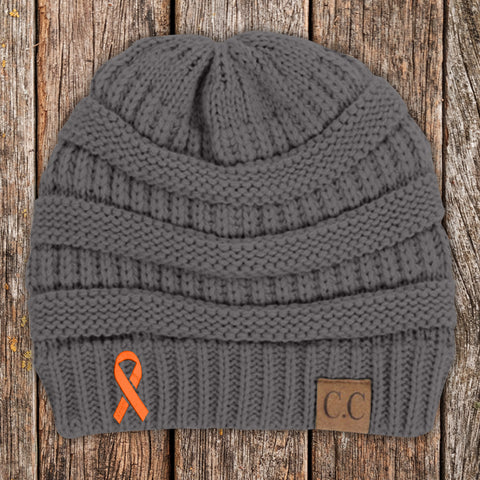 100% Donation - Multiple Sclerosis Awareness Knit Beanie