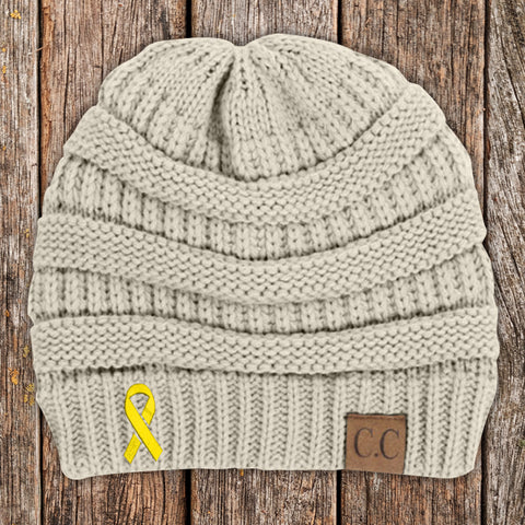Childhood Cancer Awareness Knit Beanie