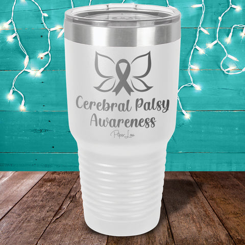 100% Donation - Cerebral Palsy Awareness Laser Etched Tumbler