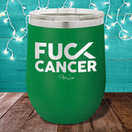 Fuck Cancer 12oz Stemless Wine Cup