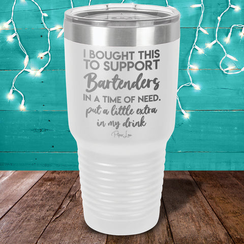 100% Donation - Bartender Relief - I Bought This To Support Bartenders Laser Etched Tumbler