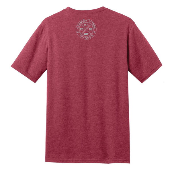Serious Steel Fitness T-Shirt (Heathered Red)
