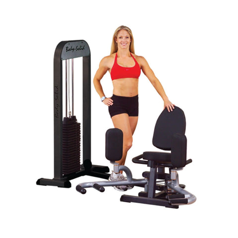 Body-Solid Inner/Outer Thigh Attachment with Free Standing 210LB. Weight Stack GIOT-STK