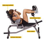 Body-Solid Horizontal Ab Crunch Bench GAB100