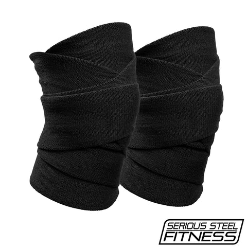 Serious Steel Knee Wraps (Black)