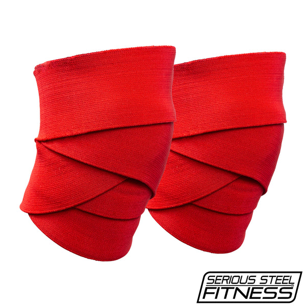 Serious Steel Comp Knee Wraps (Red)