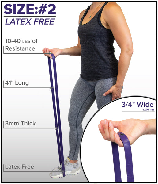 "LATEX FREE 41"" Resistance Pull-Up Bands"