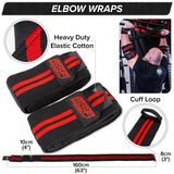 Serious Steel Fitness Elbow Wraps (Pair)