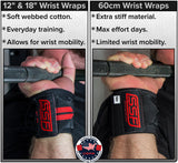 Serious Steel Heavy Duty Wrist Wraps (60cm, Black)
