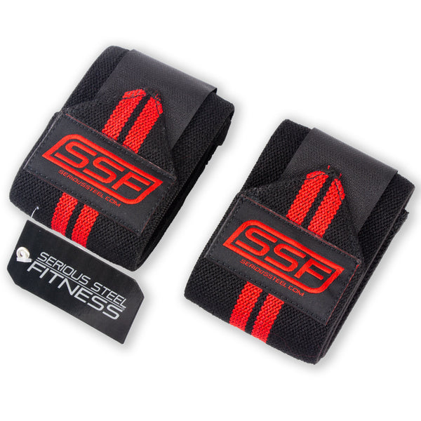 Serious Steel Red Wrist Wraps
