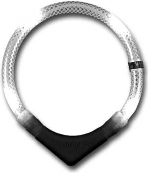 Collar luminoso leuchtie premium blanco