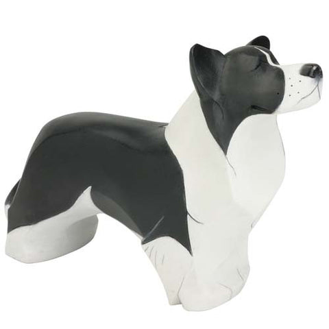 FIGURA DE MADERA BORDER COLLIE