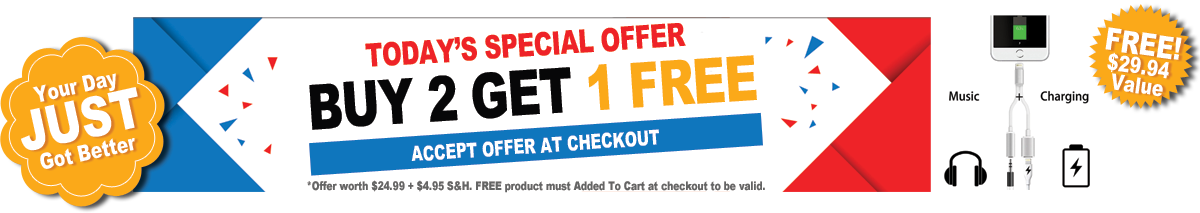 TODAY'S SPECIAL OFFER - BUY 2 GET 1 FREE