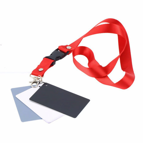 3 in 1 Pocket-Size Balance Cards (White/Black/Grey) with Neck Strap - CHECKOUT ONLY OFFER