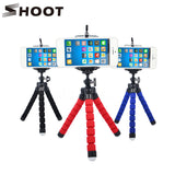Mini Octopus Flexible Tripod With Holder For Phone Action Camera and Camcorder - 500g
