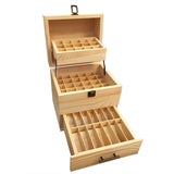 Natural Pine Wooden Essential Oil Holder (holds 54 oils)