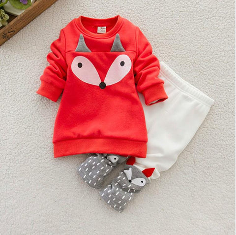 Girls Fox Sweater & Leggings