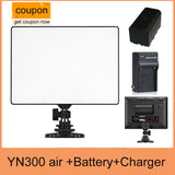 YN300 AIR Pro LED Camera Video Light + NP-F550 BATTERY + Charger