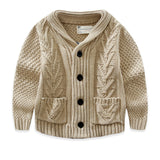Boys Cable Knit Cardigan