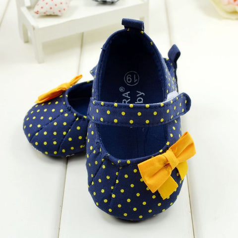Baby Girl Soft Blue Mary Jane Shoes