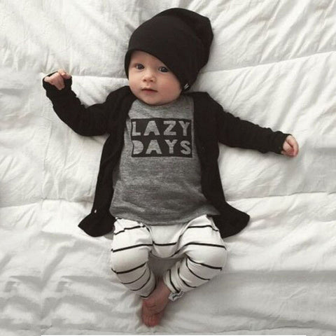 Baby Boy 'Lazy Days' Shirt & Pant Set