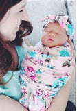 swaddle blanket and headband set