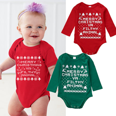 Christmas Baby Bodysuits Long Sleeve