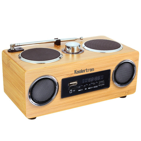 Portable Wood Radio