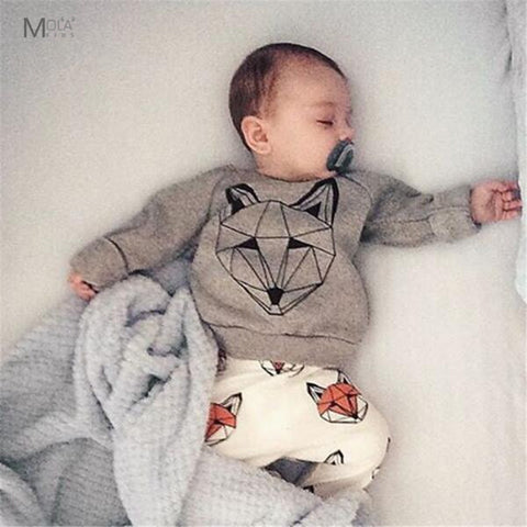 2pcs Childrens Fox clothing set