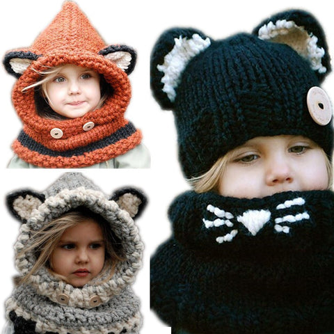 Toddler & Big Kid Fox & Cat Eared Hat