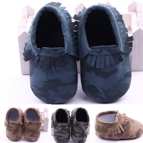 Baby Boy Camouflage Moccasins