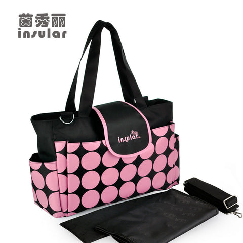 Round Dots Baby Diaper Bag