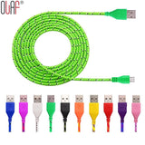 3ft/6ft Nylon Braided Micro USB Cable For Samsung Galaxy Cell phones